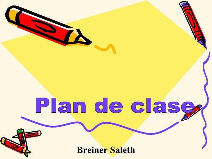 Plan de clase Breiner Saleth