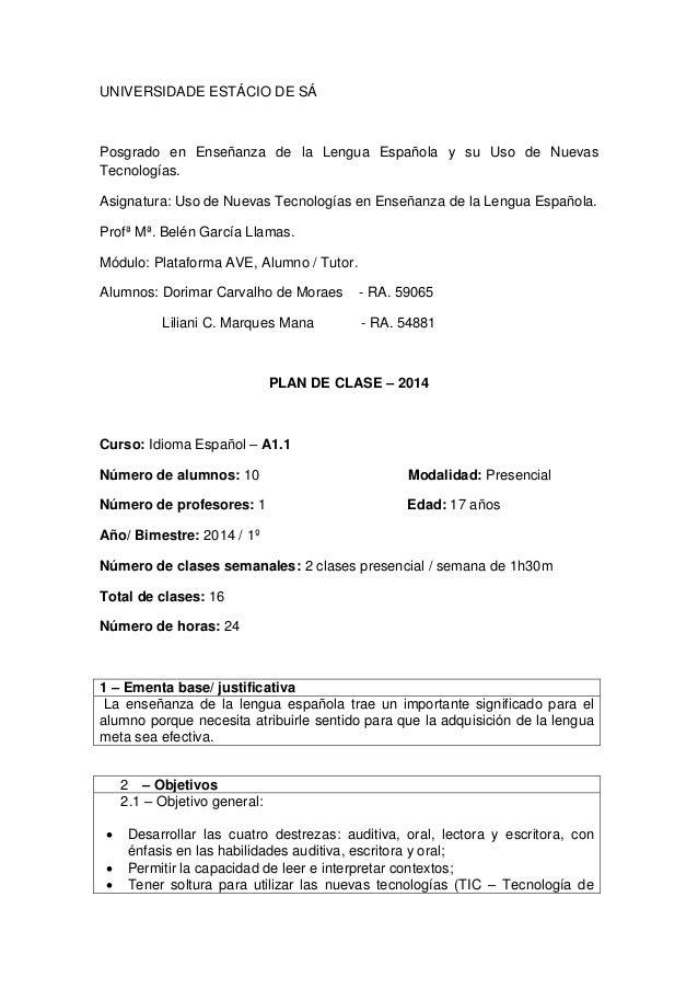 UNIVERSIDADE ESTÁCIO DE SÁ  Posgrado en Enseñanza de la Lengua Española y su Uso de Nuevas Tecnologías.  Asignatura: Uso d...
