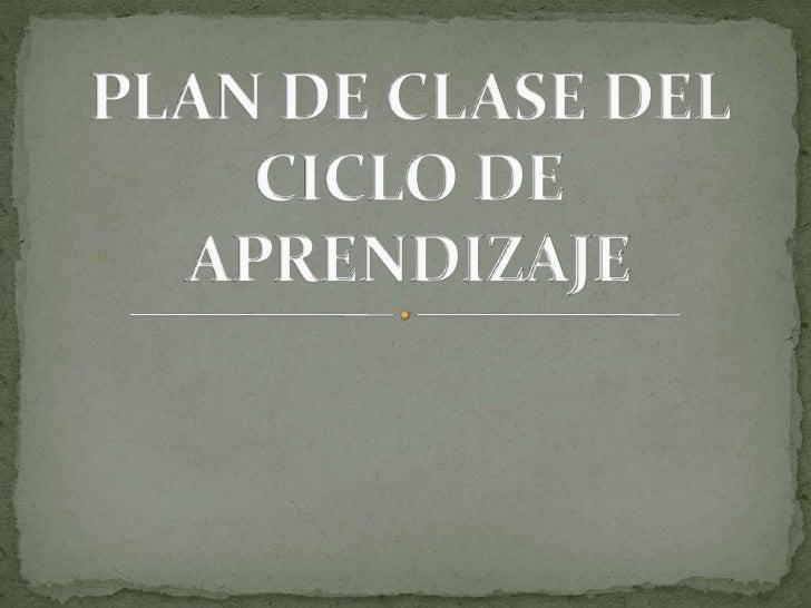 Plan de clase del ciclo de aprendizaje exposición