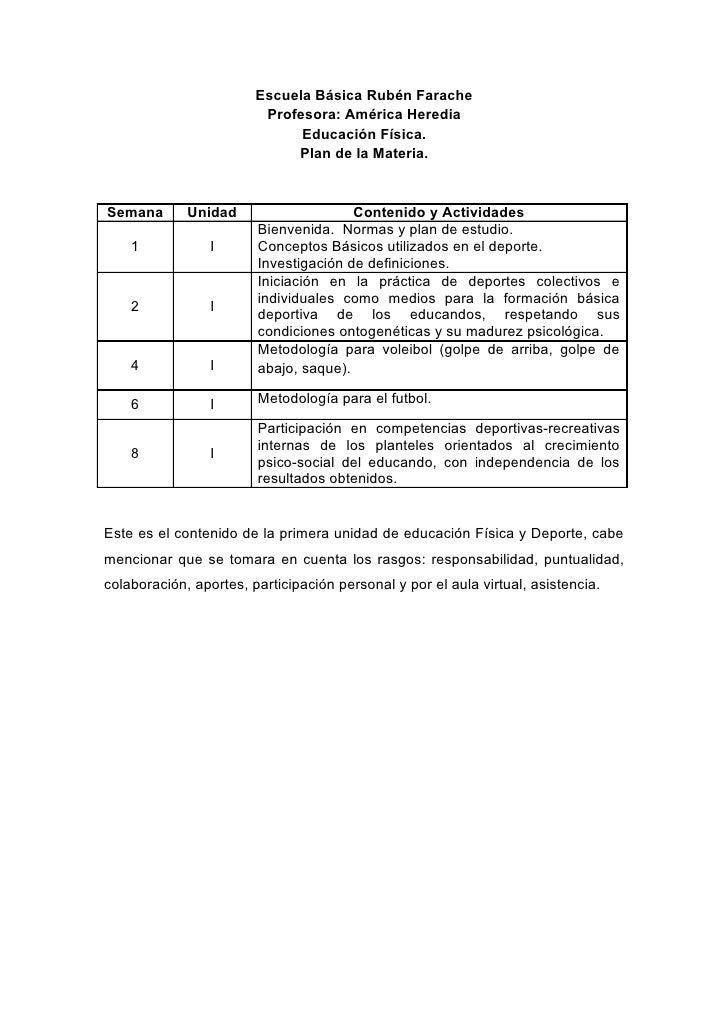 Escuela Básica Rubén Farache                          Profesora: América Heredia                               Educación F...
