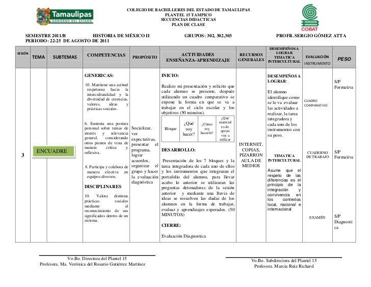 COLEGIO DE BACHILLERES DEL ESTADO DE TAMAULIPAS                                                                         PL...