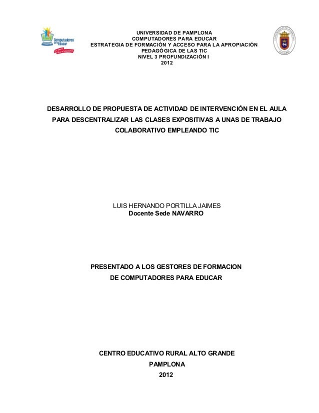UNIVERSIDAD DE PAMPLONA                        COMPUTADORES PARA EDUCAR           ESTRATEGIA DE FORMACIÓN Y ACCESO PARA LA...