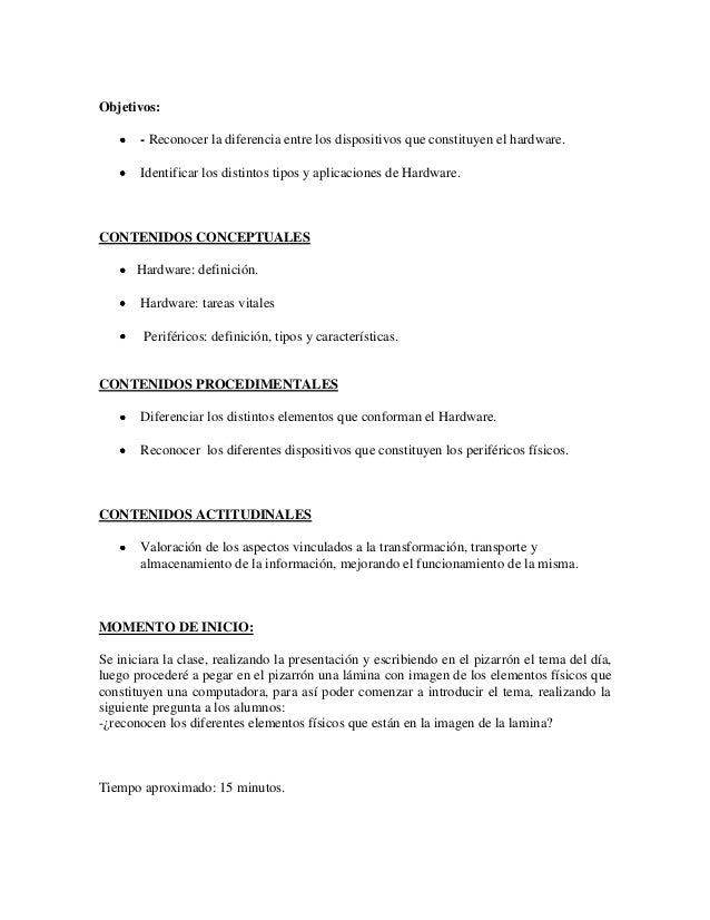 Plan de clase nº 1 Slide 2