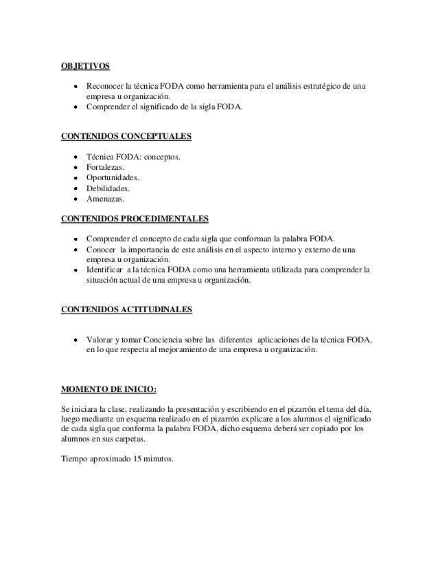 Plan de clase nº 1   Colegio n°12 Slide 2