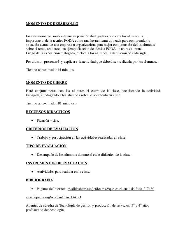 Plan de clase nº 1   Colegio n°12 Slide 3