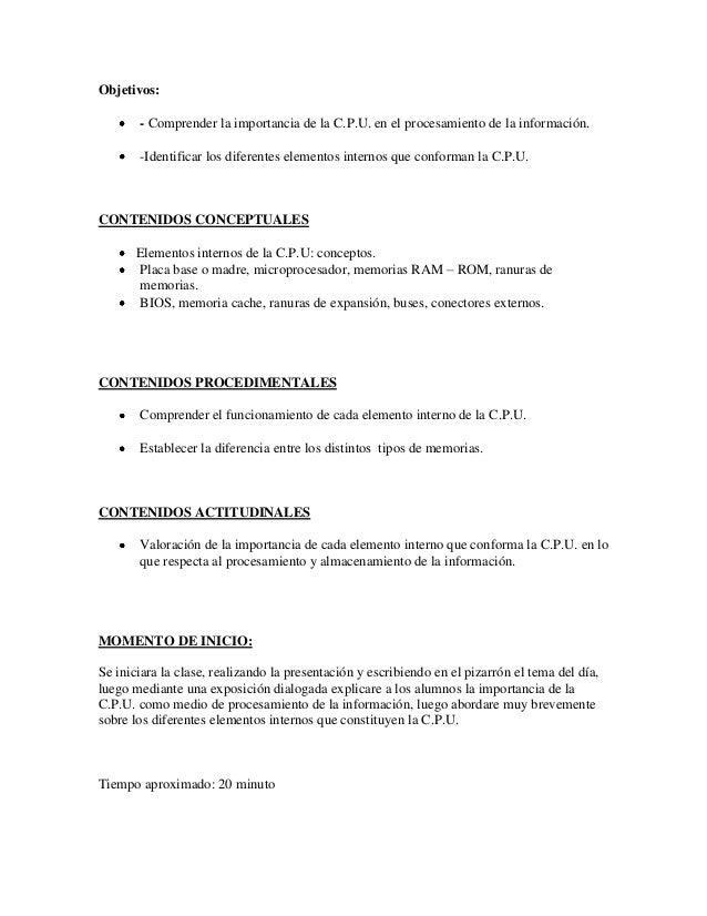 Plan de clase nº 2 Slide 2