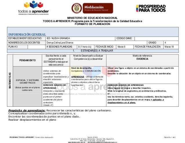 Perfecto Plantilla De Plan De Lección Estándar Viñeta - Colección De ...