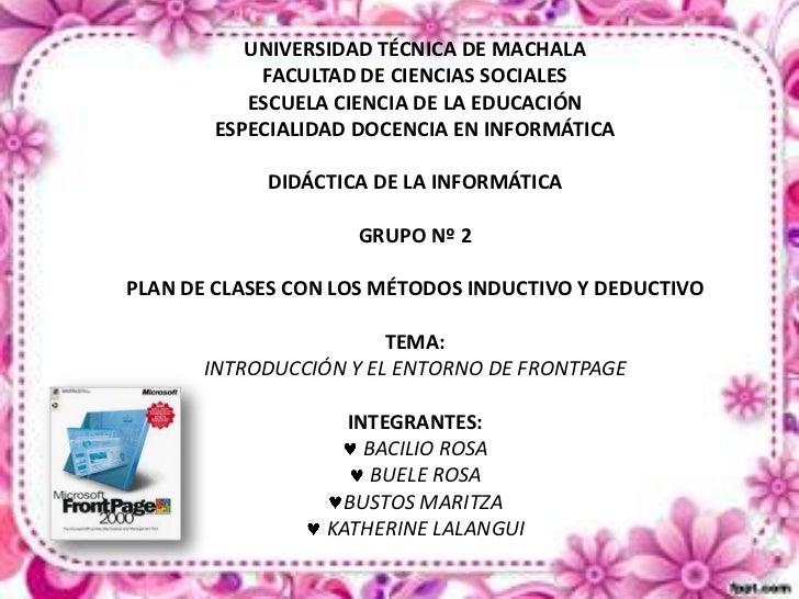 UNIVERSIDAD TÉCNICA DE MACHALA            FACULTAD DE CIENCIAS SOCIALES           ESCUELA CIENCIA DE LA EDUCACIÓN        E...