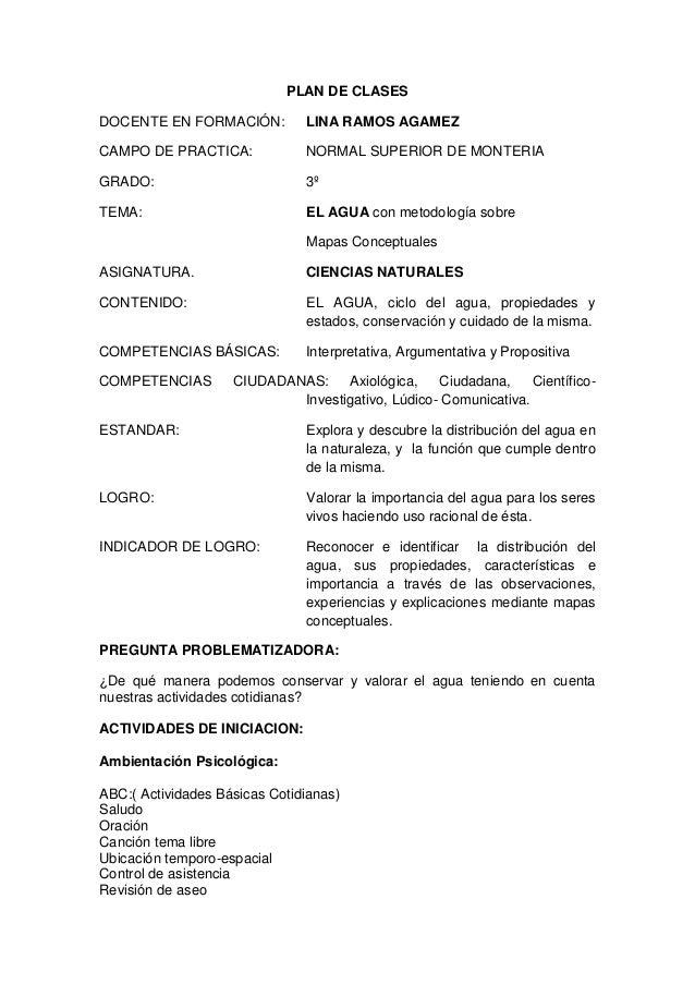 PLAN DE CLASES DOCENTE EN FORMACIÓN: LINA RAMOS AGAMEZ CAMPO DE PRACTICA: NORMAL SUPERIOR DE MONTERIA GRADO: 3º TEMA: EL A...