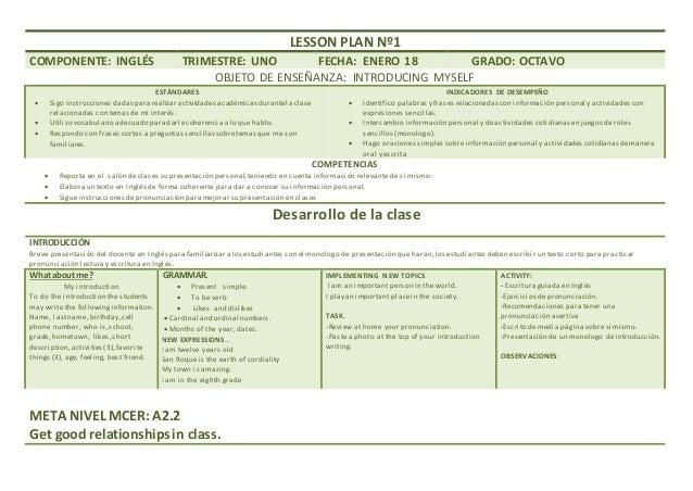 Plan De Clases Octavo