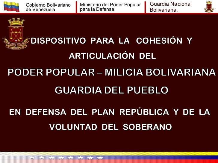 Gobierno Bolivariano   Ministerio del Poder Popular   Guardia Nacional   de Venezuela           para la Defensa           ...