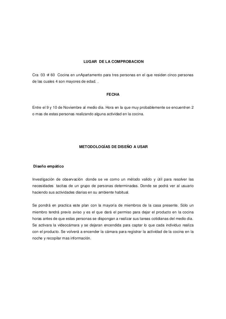LUGAR DE LA COMPROBACIONCra ·33 ·# 60 Cocina en unApartamento para tres personas en el que residen cinco personasde las cu...