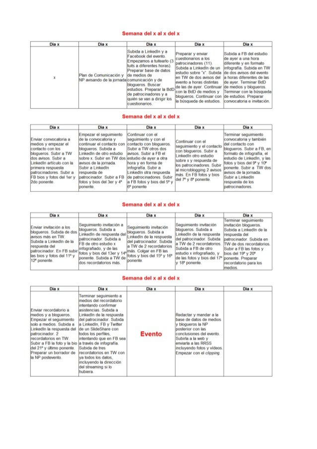 Plan de comunicación evento 2013 Slide 3