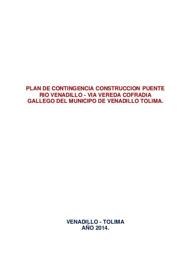 Plan de contingencia de puente rio venadillo cofradia gallego
