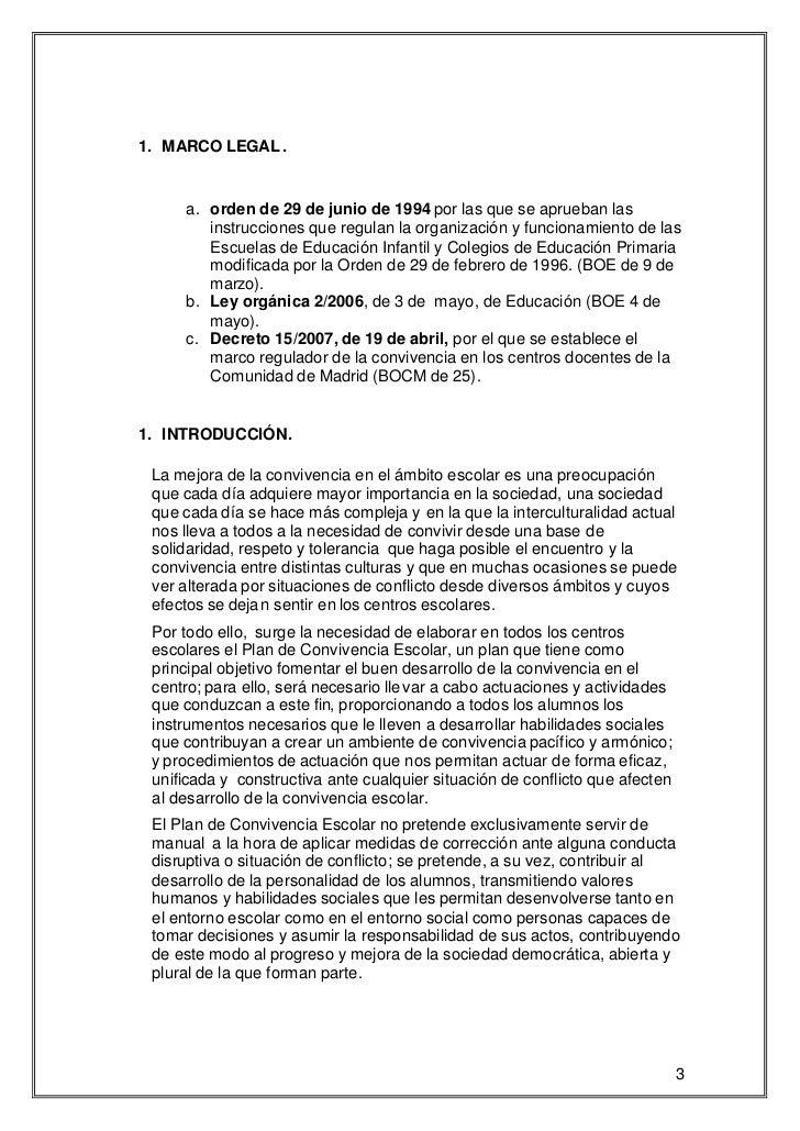 1. MARCO LEGAL .     a. orden de 29 de junio de 1994 por las que se aprueban las        instrucciones que regulan la organ...