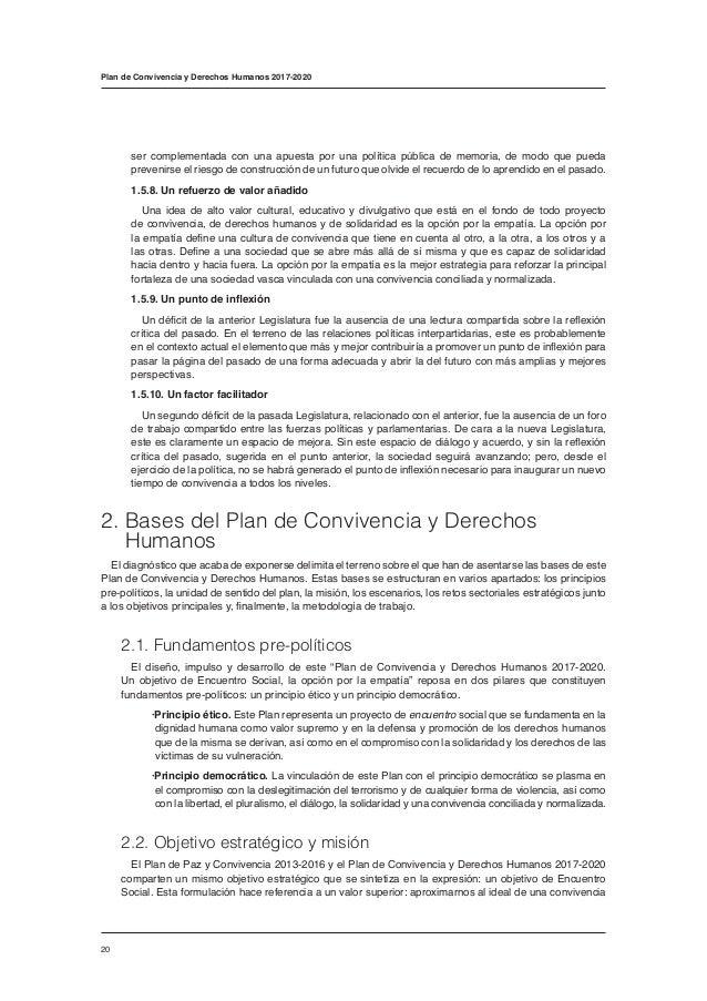Plan de Convivencia y Derechos Humanos 2017-2020