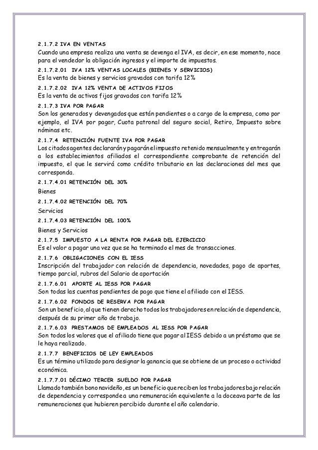 plan de cuentas de una empresa de servicios ecuador