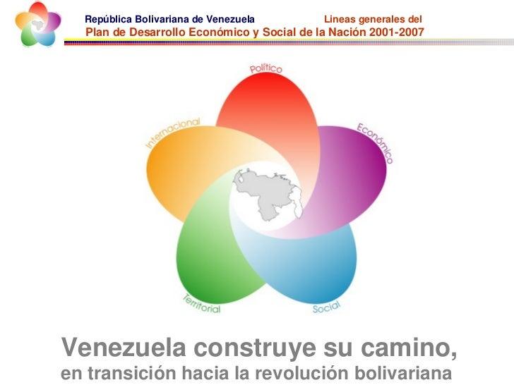 República Bolivariana de Venezuela        Lineas generales del  Plan de Desarrollo Económico y Social de la Nación 2001-20...