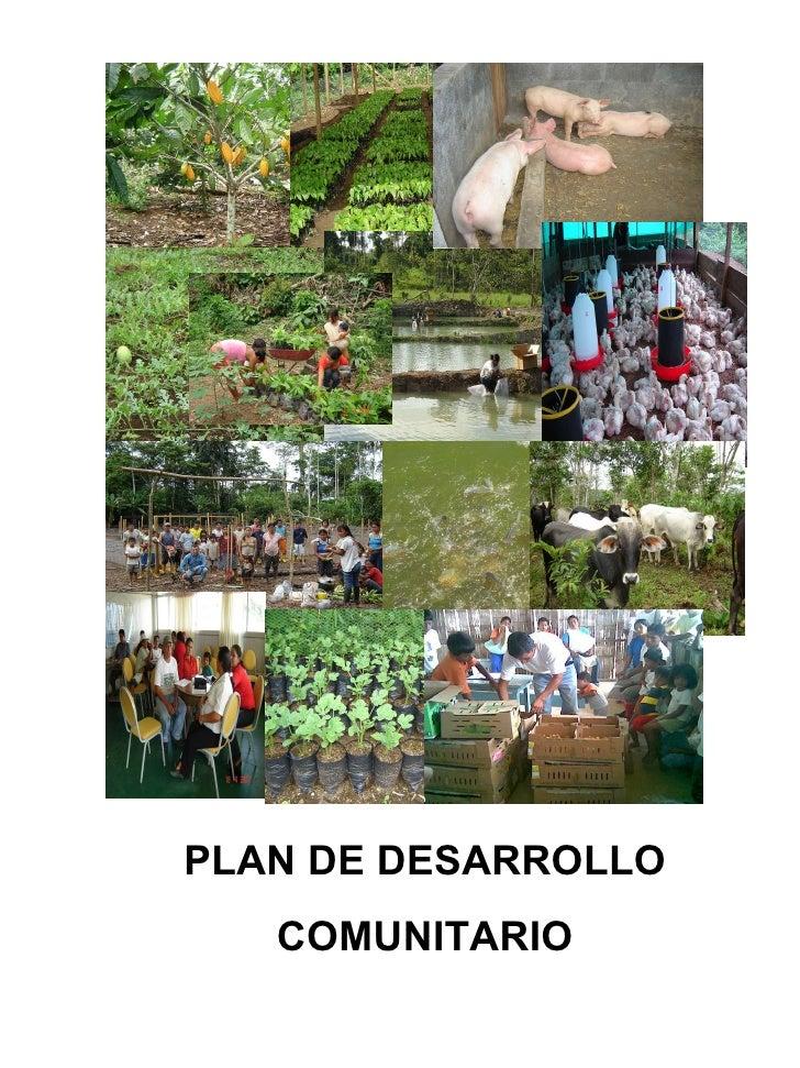 PLAN DE DESARROLLO COMUNITARIO