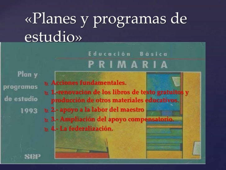 plan y programas de estudio 1993 educacion basica secundaria pdf