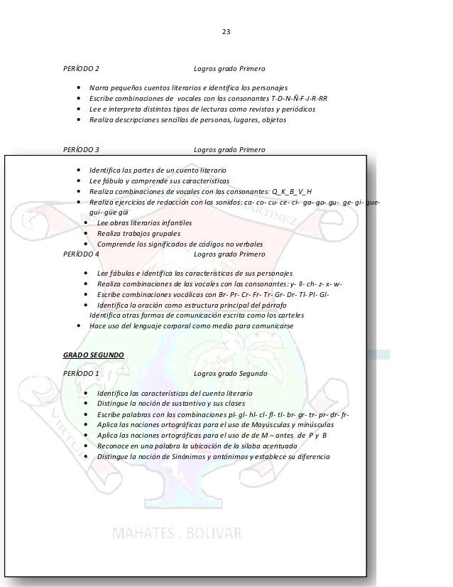 Fabulous PLAN DE ESTUDIO CASTELLANO BASICA PRIMARIA JB15