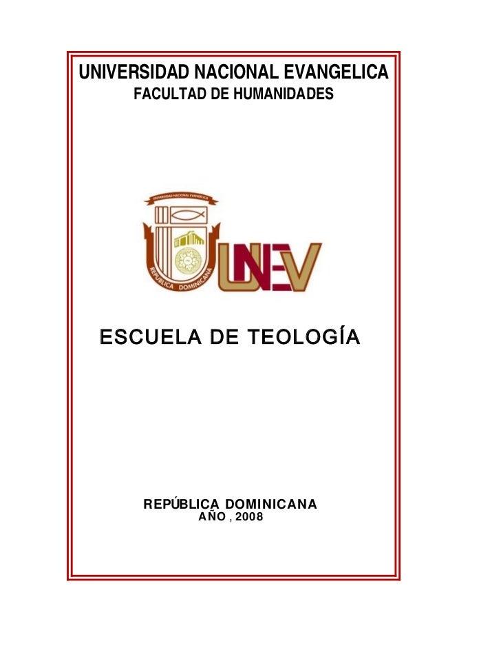 Plan de estudio para teología