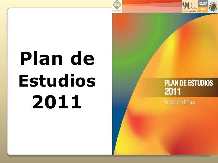 Plan deEstudios 2011
