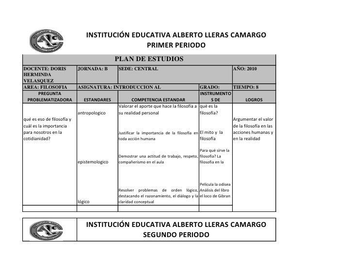 INSTITUCIÓN EDUCATIVA ALBERTO LLERAS CAMARGO                                                PRIMER PERIODO                ...