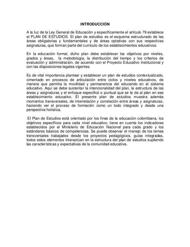 Plan de estudios de la insitucion educativa republica de honduras Slide 2