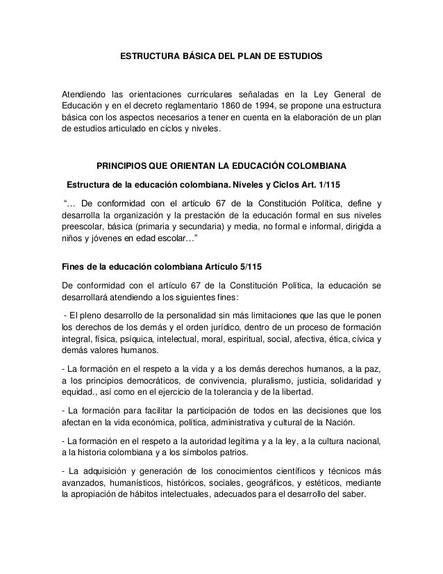 Plan de estudios de la insitucion educativa republica de honduras Slide 3