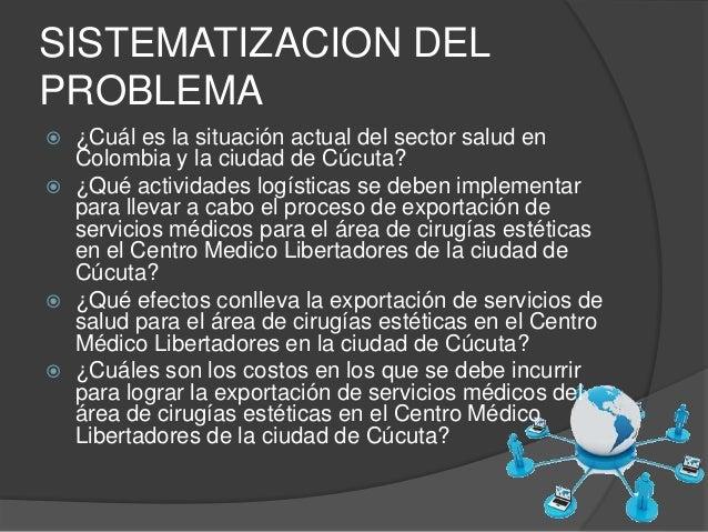 SISTEMATIZACION DEL  PROBLEMA   ¿Cuál es la situación actual del sector salud en  Colombia y la ciudad de Cúcuta?   ¿Qué...