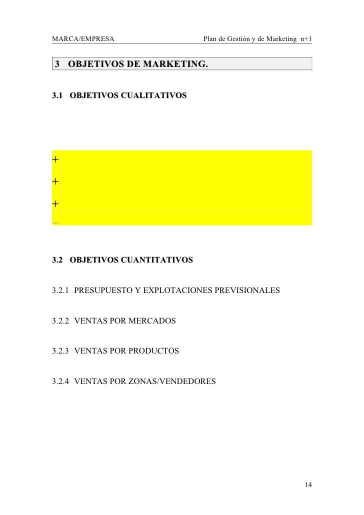 Plan de gestión anual y de marketing. plantilla de trabajo 1