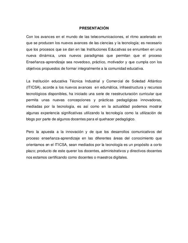 Plan de gestión de uso de las tic del iticsa Slide 2