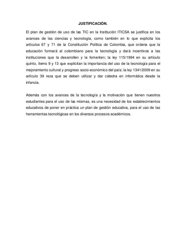 Plan de gestión de uso de las tic del iticsa Slide 3