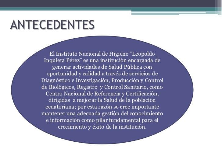 PLAN DE LA GESTIÓN DEL CONOCIMIENTO - INHLIP Slide 3