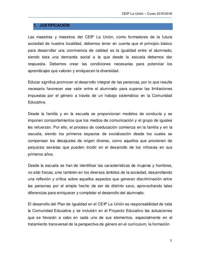 Plan de igualdad ceip la unión - photo#49