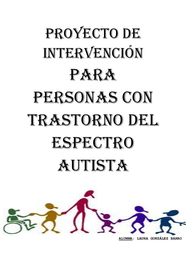 Plan De Intervencion Para Personas Con Autismo