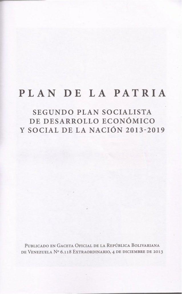 Plan de la patria2 2013   2019