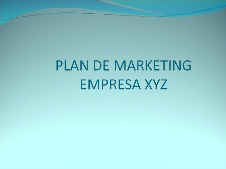 Plan De Marketing Slide 1