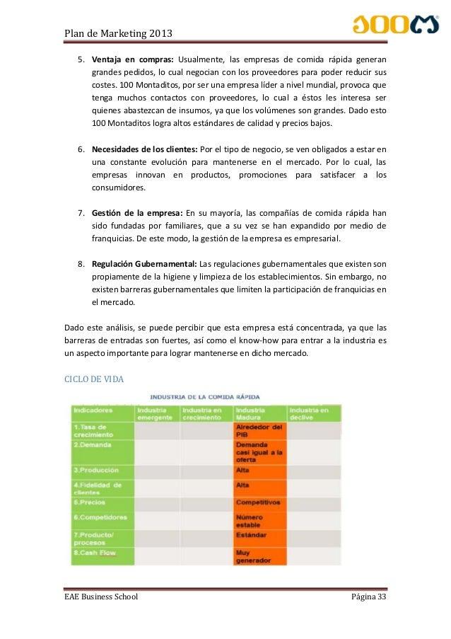 Plan de marketing - 100 montaditos 2013