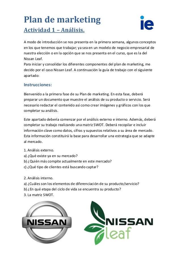 Plan de marketing nissan leaf francisco jim nez for Marketing strategy of nissan motor company