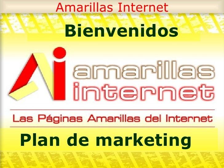 Amarillas Internet Bienvenidos Plan de marketing