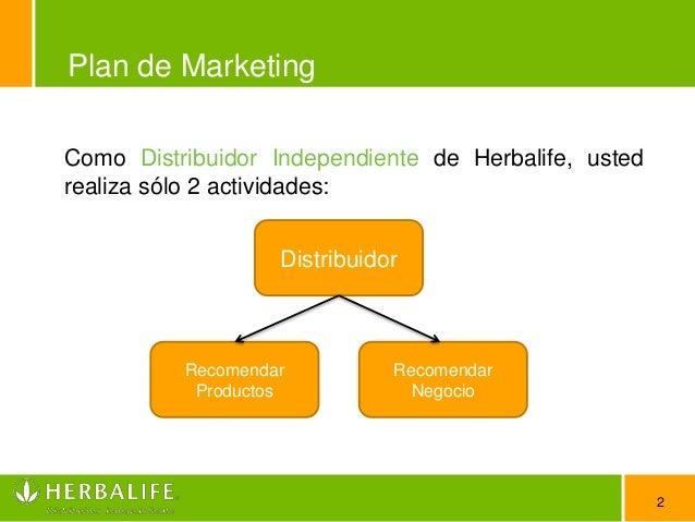 Plan de marketing herbalife Slide 2