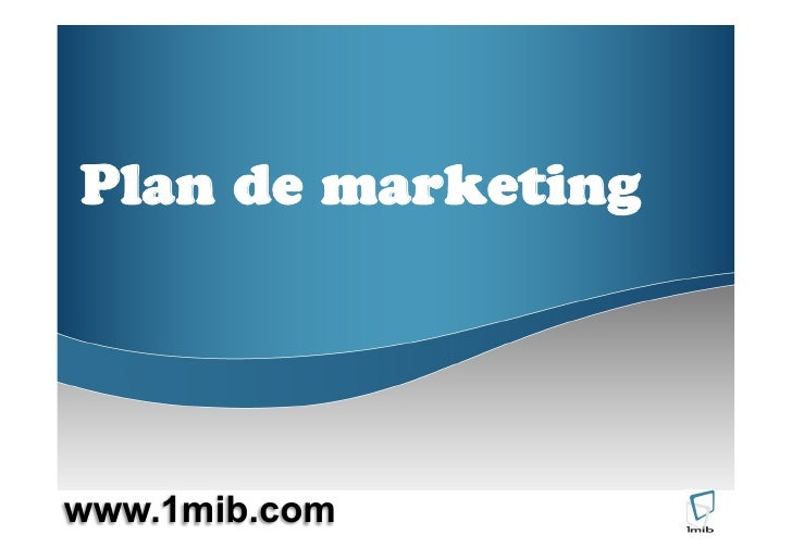 Plan de marketing     www.1mib.com