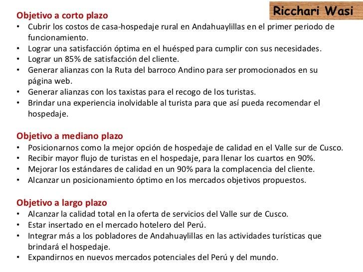 Plan de marketing para casa hospedaje rural Slide 3