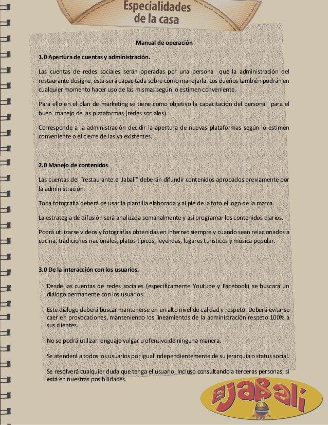Diagnóstico y Plan de marketing para el restaurante El Jabalí