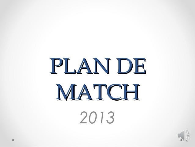 PLAN DEMATCH  2013