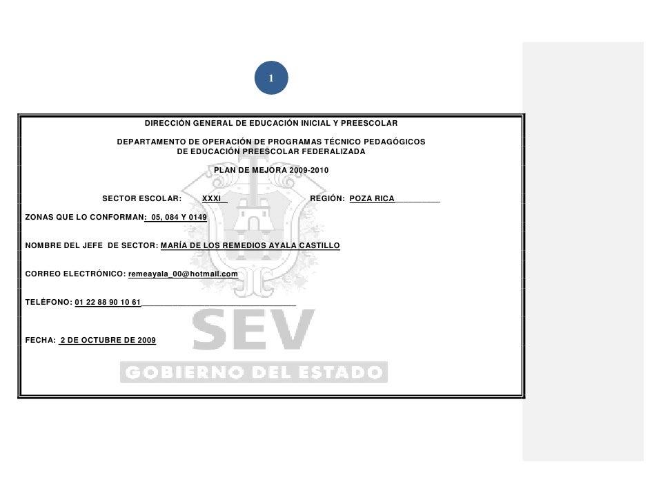 1                              DIRECCIÓN GENERAL DE EDUCACIÓN INICIAL Y PREESCOLAR                      DEPARTAMENTO DE OP...