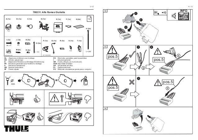 plan de montage faisceaux specifique attelage pour alfa giulietta bri. Black Bedroom Furniture Sets. Home Design Ideas