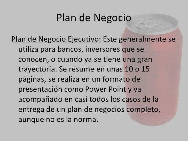 Plan De Negocio Slide 3